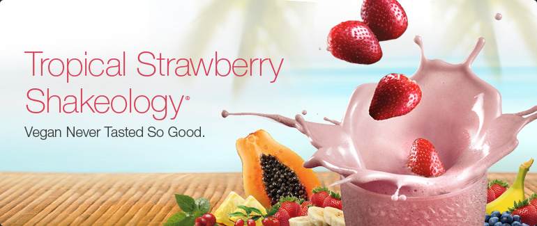 Vegan Tropical Strawberry Shakeology
