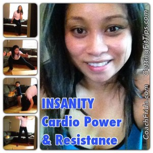 Insanity Cardio Power & Resistance Workout Accountability