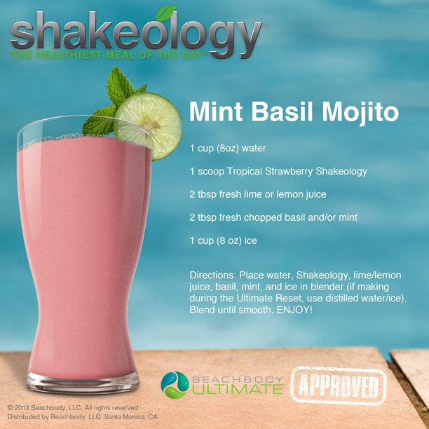 Mint Basil Mojito Tropical Shakeology Recipe