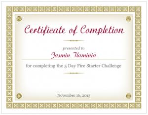 Jasmin Flaminia  - Fire Starter Challenge Graduate