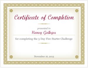 Nancy Gallegos  - Fire Starter Challenge Graduate