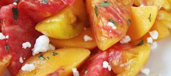 Peach and Heirloom Tomato Salad Recipe